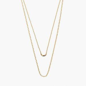 NWT Madewell Rainbow pave moon necklace set